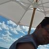 Enjoying the sunny beach