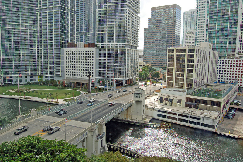 View of Miami River from our Room in Hyatt