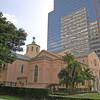 First Presbyterian Church, B of A Behind