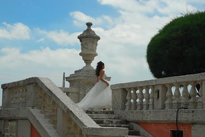 The running bride