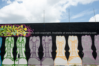 "Boots. Wynwood, Miami, street art, graffiti in the ""Art Walk"" and old wahehouse district. Prints and downloads."