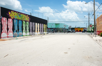 "Empty street. Wynwood, Miami, street art, graffiti in the ""Art Walk"" and old wahehouse district. Prints and downloads."
