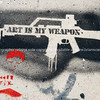"""Art is my weapon""<br /> Wynwood, Miami, street art, graffiti in the ""Art Walk"" and old wahehouse district. Prints and downloads."