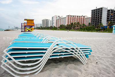 South Beach Miami. Prints & downloads. People and kiosks that characterise South Beach.