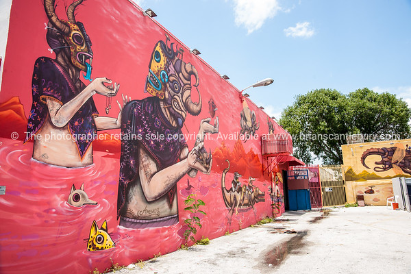 "Wynwood, Miami, street art, graffiti in the ""Art Walk"" and old wahehouse district. Prints and downloads."