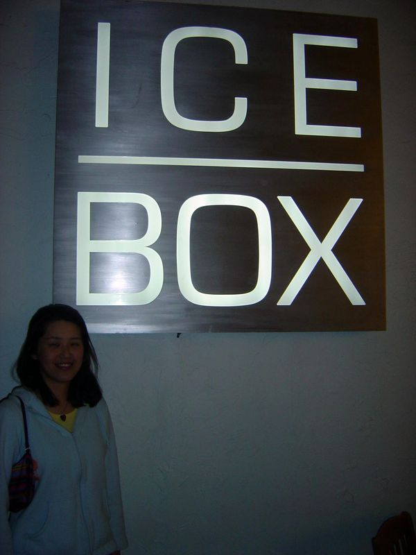 "Our first night in town, we had a great dinner at <a href=""http://www.iceboxcafe.com/"">Ice Box Cafe.</a>"