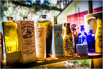 The potions and lotions of yesteryear.