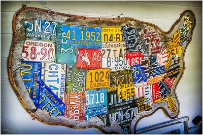 Very creative use of license plates...check out California and Texas, some good splicing.