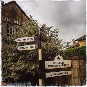 Bourton-on-the-Water near the Motoring Museum (May, 2014)