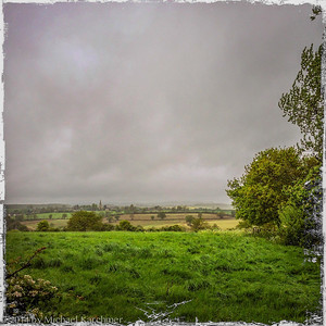 The Cotswold countryside on a wet, spring day