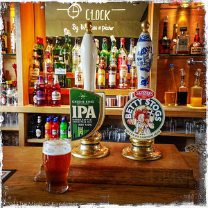 "Traditional ale at ""The Bell,"" Charlbury, England (May, 2014). The beer divine; the pub food first rate."