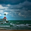 """Storm a Coming""- Michigan City, IN Lighthouse."