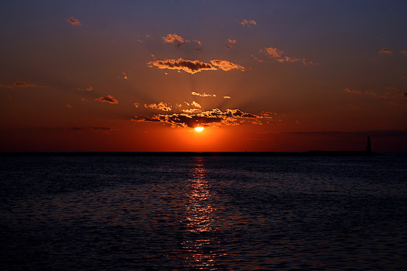 "March 23, 2011<br /> ""Sunset Glow"" - Lake Michigan sunset."