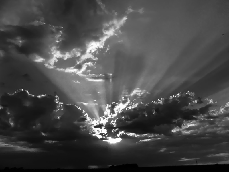 """May 16, 2011<br /> """"Dark Sunset"""" - the original shot was full of color noise when processed and I wondered what it would look like in black and white? Not the best, but my photo of the day. Thanks to everyone for the comments of 'Papa & Peanut' yesterday! Have a great Monday!"""