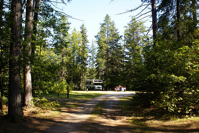 Our campsite off in the distance