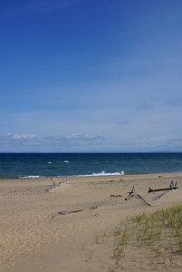 Look across the way and you can see Canada.... Whitefish Point.