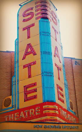 "Famous old theater in downtown Ann Arbor - ""The State Theatre"""
