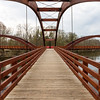 The Tridge, Midland MI - A three legged wooden bridge.