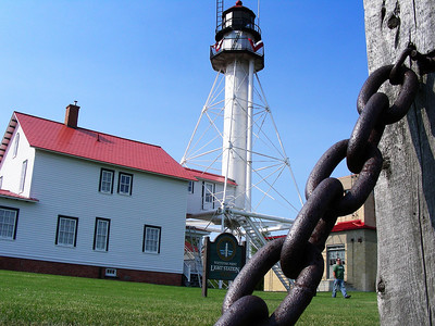 Whitefish Point light station.