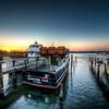 sunset over fishtown | leland, michigan