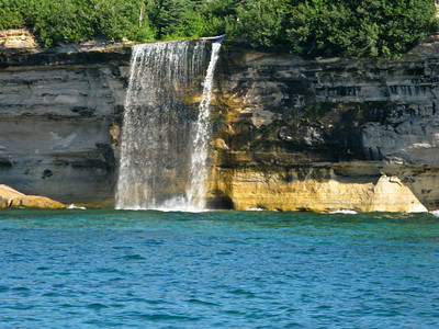 Pictured Rocks National Lakeshore Waterfall