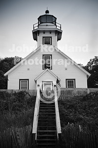 Mission Point Lighthouse on the Old Mission Peninsula.  Traverse City, Michigan.