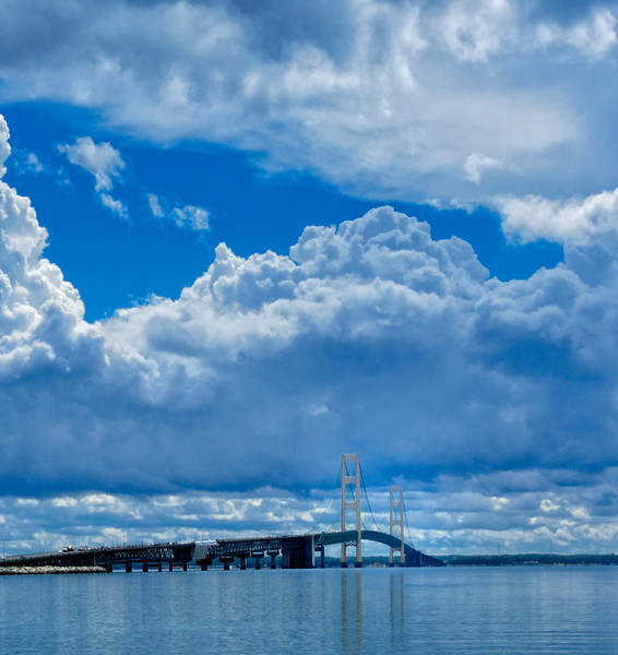 Mackinac Bridge after storm
