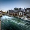 moonrise over rushing water | fishtown, michigan