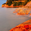 """Pictured Rocks National Park at sunset from """"Gerlach Point"""""""