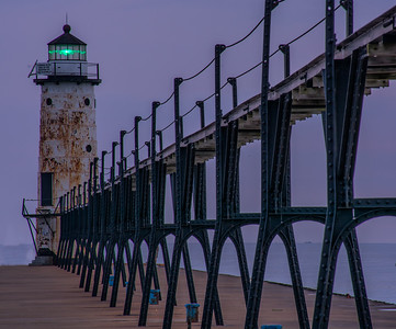 Manistee Michigan Northpier Lighthouse