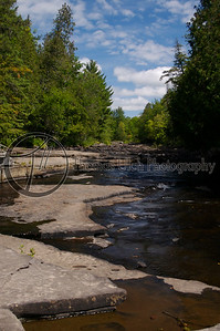 The river to Canyon Falls. Michigan's Upper Peninsula.