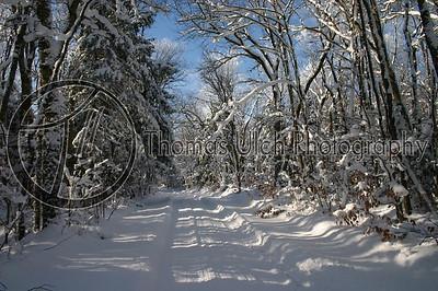 Fordney Tower road.  Michigan's Upper Peninsula.