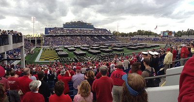 US Naval Acadamy  Navy Marine Corps Memorial Stadium  The Midshippeople file in.  Copyright 2012 Neil Stahl