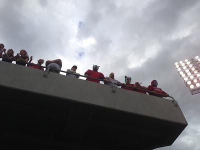 US Naval Acadamy  Navy Marine Corps Memorial Stadium; fans above us.  Copyright 2012 Neil Stahl