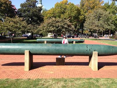 US Naval Acadamy.  Vonda with Japanese torpedoes.  Copyright 2012 Neil Stahl
