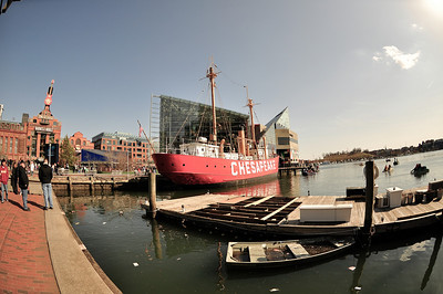 Lightship 116 Chesapeake, one of the Historic Ships of Baltimore