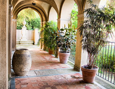 The Loggia along side the pool