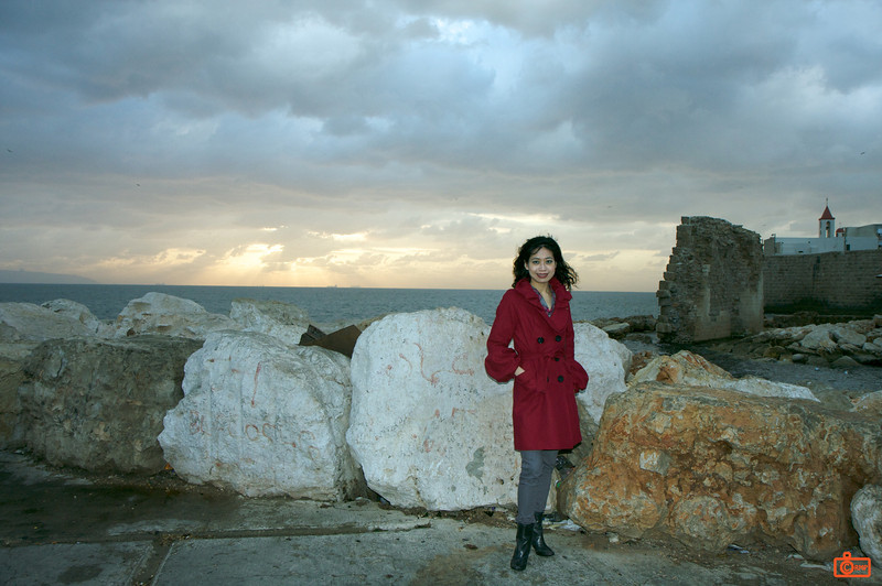Rosa at the Crusader castle in Acre.<br /> IMG_0829
