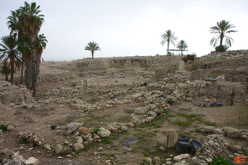 This is the site of Megiddo, which comes to English as Armageddon. This hill (or 'tel') is composed of 26 layers of the ruins of ancient cities in a strategic location in a valley in central Israel. Many battles were found here through history, so it was only natural for the ancient writers to mention it as a site of the final battles.<br /> IMG_0792