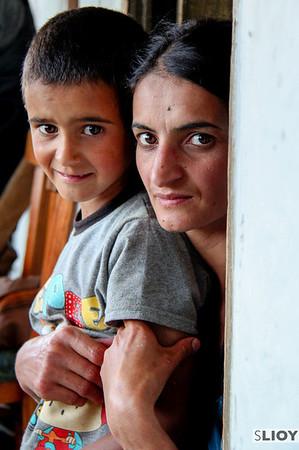 Happy family.<br /> <br /> near Lahic, Azerbaijan
