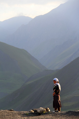 Rooftop portrait.<br /> <br /> Xinaliq, Azerbaijan