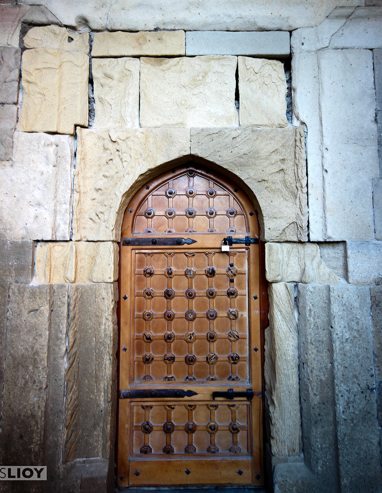 Old door in Baku's Old Town.<br /> <br /> Baku, Azerbaijan