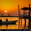 Middle East - GCC - Bahrain - Traditional Muharraq area with fisherman boats