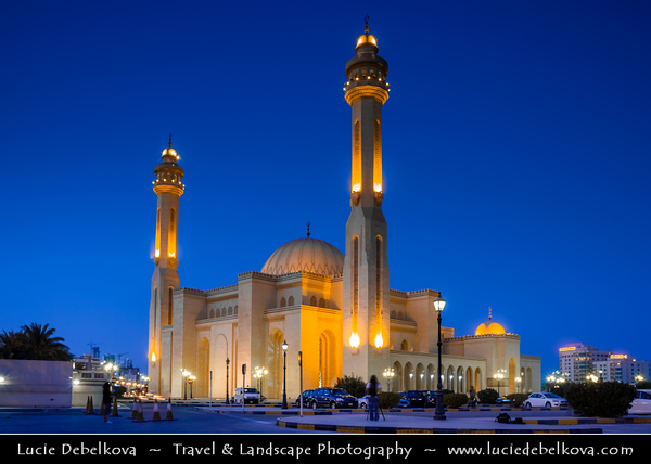 Middle East - GCC - Bahrain - Manama - Grand Mosque - Al-Fateh Mosque - Al-Fateh Islamic Center - Al Fateh Grand Mosque - مسجد الفاتح‎ - Masjid al-Fatih - One of the largest mosques in the world