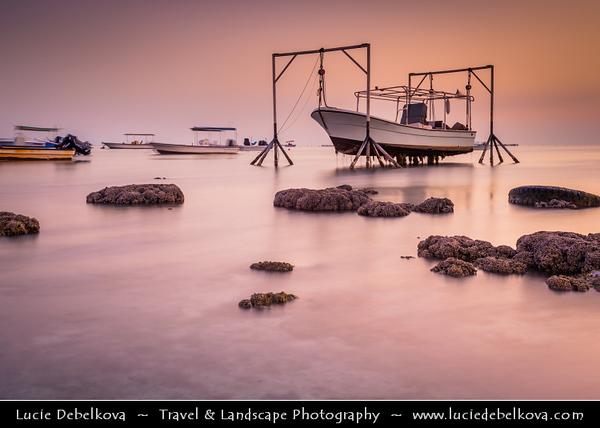 Middle East - GCC - Bahrain - Askar Beach - Asker Beach & Hanging Boat - Sunrise