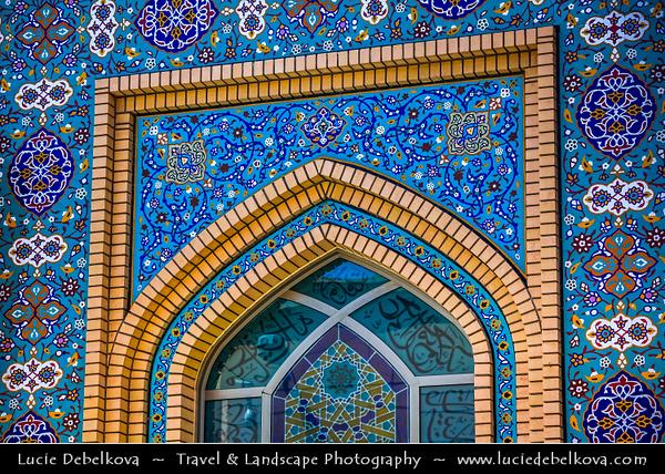 Middle East - GCC - Bahrain - Manama - Beautifully decorated traditional Shia Mosque in Heart of Old Manama