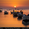 Middle East - GCC - Bahrain - Askar Beach - Asker Beach & Fisherman on their boats at Sunrise