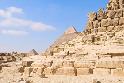 Each block of the pyramid is as tall as a person