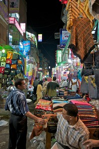 Wandering around at night in the Khan el-Khalili market