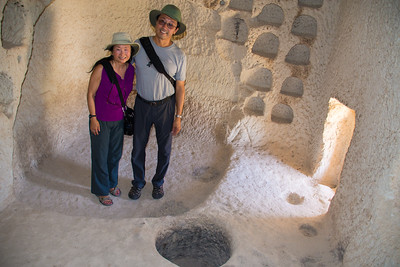 Standing inside the rock house